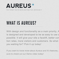 Weekend Freebie! The Aureus Landing Page (PSD)