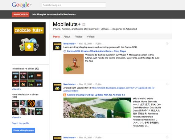 Mobiletuts+ on Google+