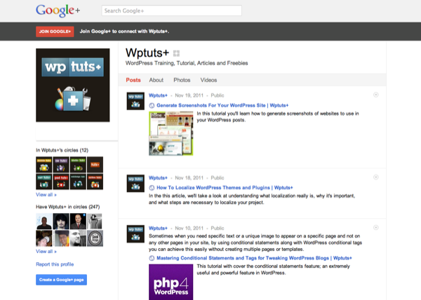 Wptuts+ on Google+