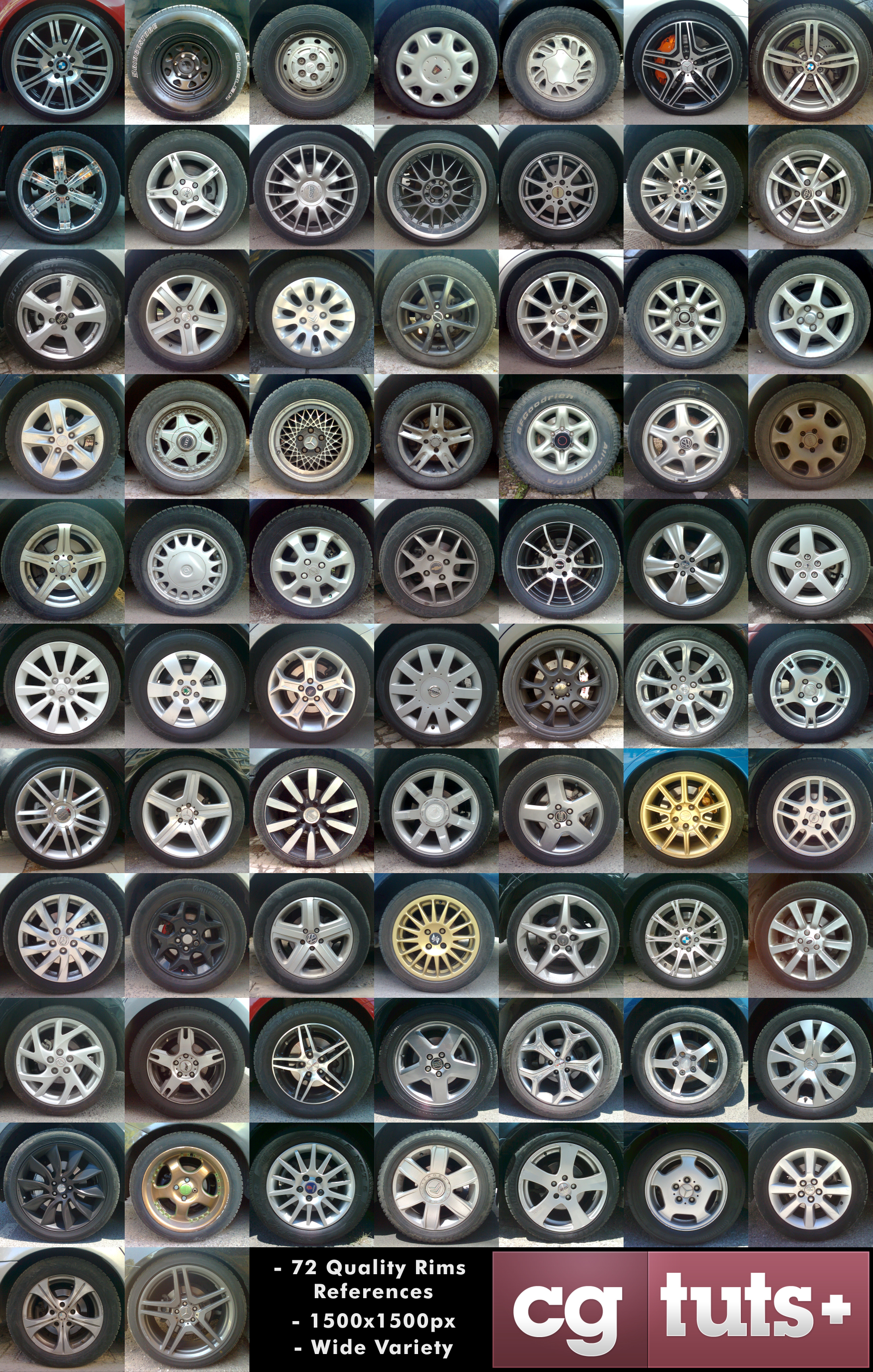 High resolution car rim reference pack for modeling texturing high resolution car rims reference and texture pack for modeling malvernweather Gallery
