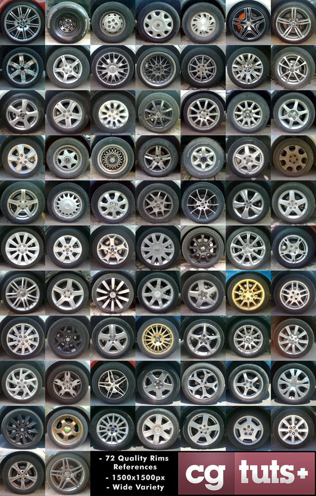 high Resolution Car Rims Reference And Texture Pack For Modeling