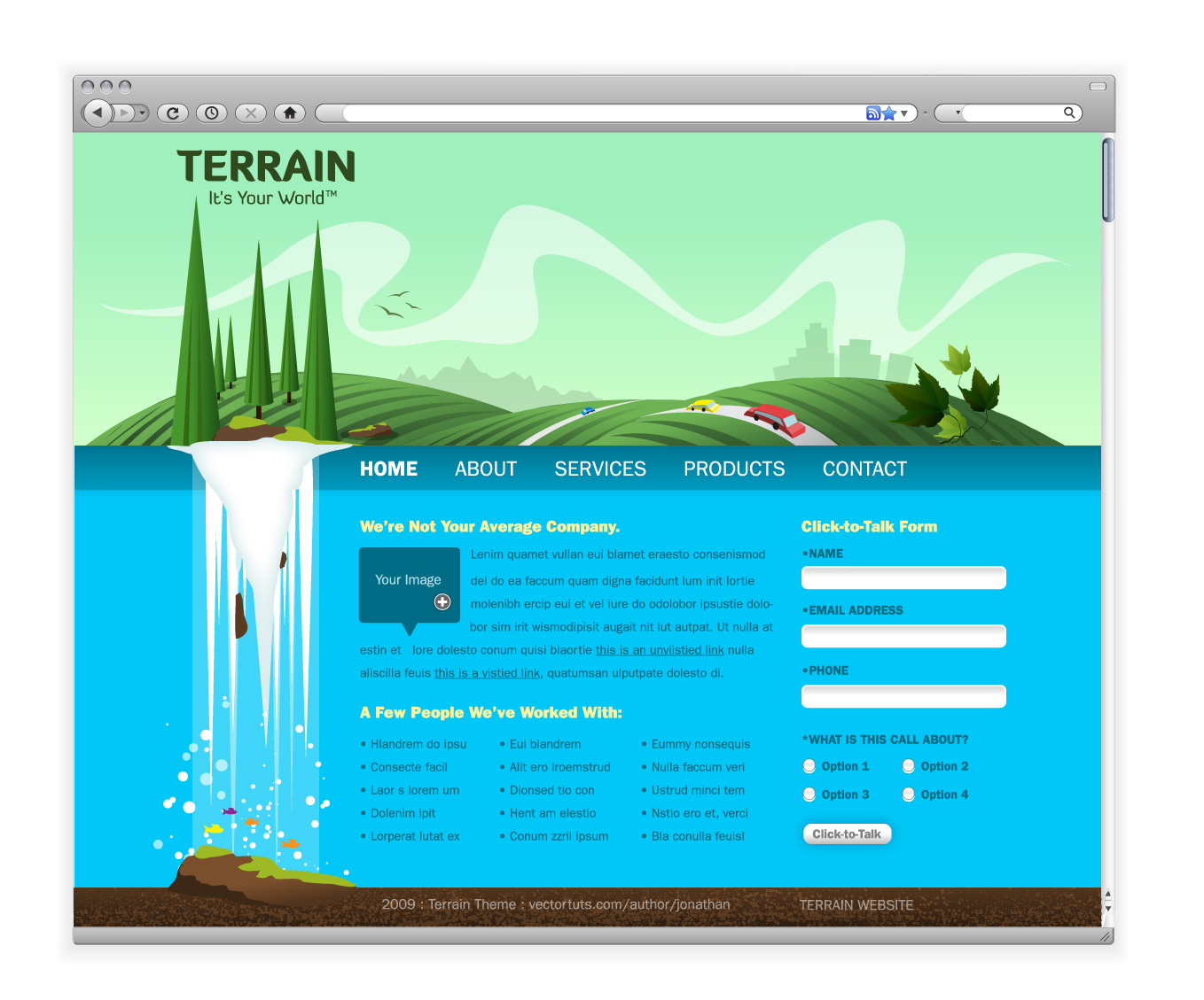 Create a Green Landscape Website in Adobe Illustrator
