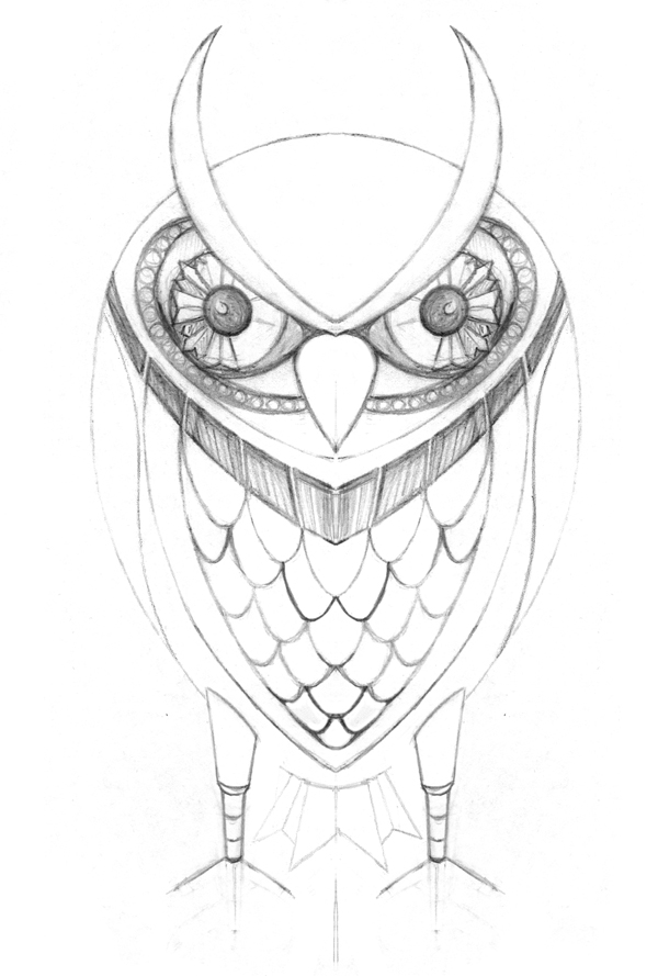 Owl Claws Drawing Step 2