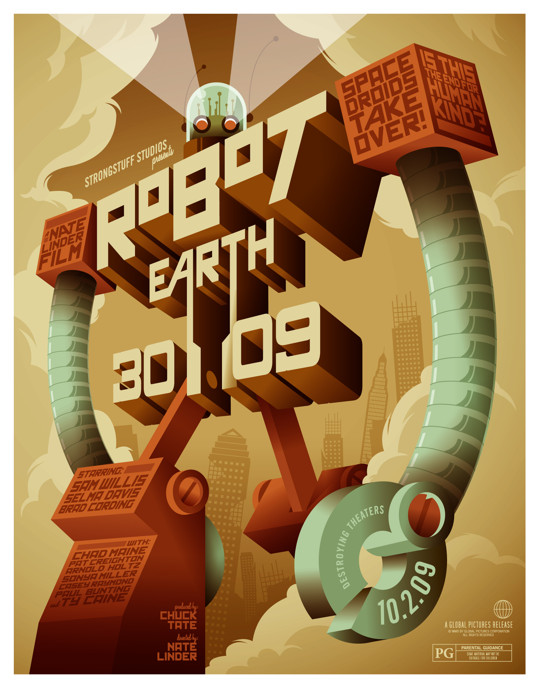 3d poster design tutorial - You Can View The Large Version Here Robot Poster Vector Illustration Tutorial