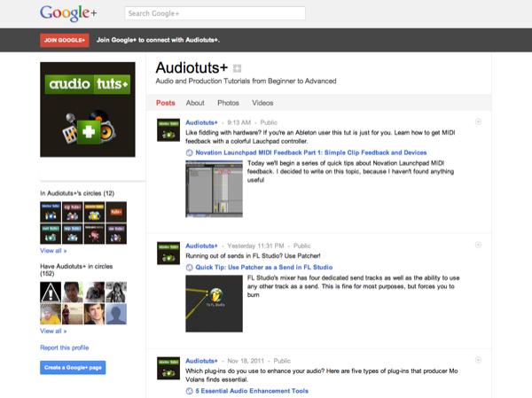 Audiotuts+ on Google+