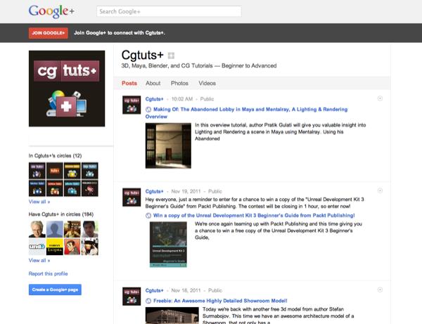 Cgtuts+ on Google+
