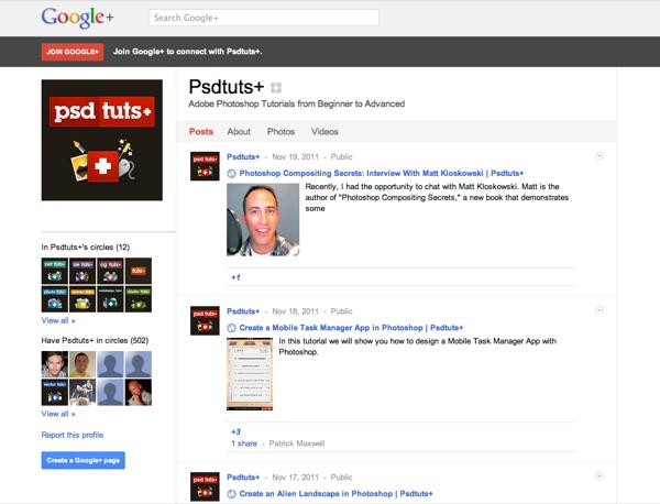 Psdtuts+ on Google+