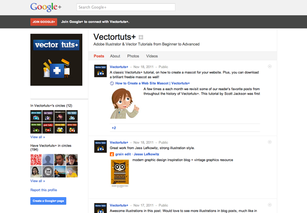 Vectortuts+ on Google+