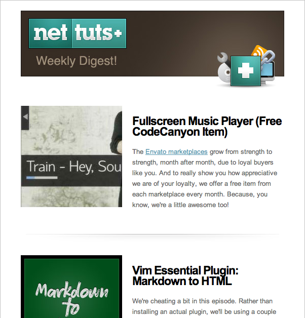 Join the Nettuts+ Newsletter and get an Exclusive Tutorial
