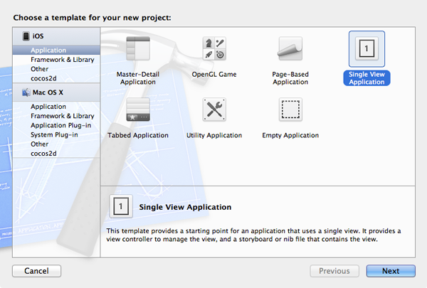 Working with iCloud: Project Setup 1 - Figure 1