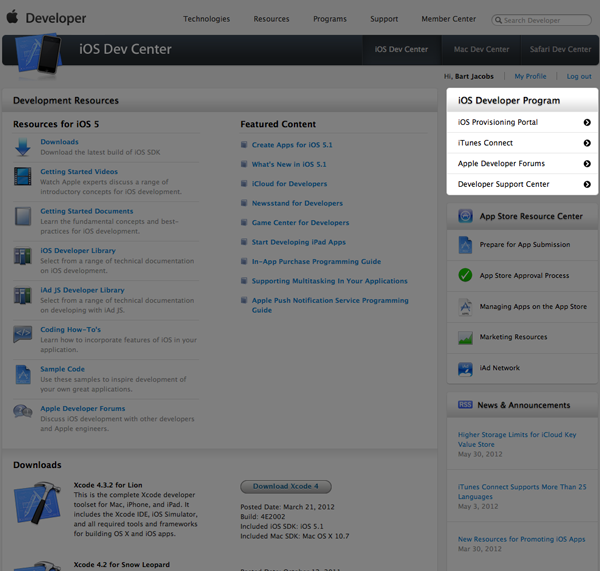 Working with iCloud: iOS Dev Center - Figure 3