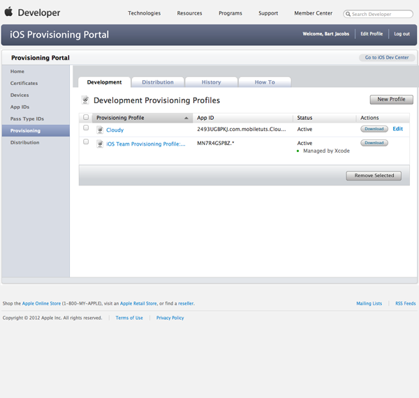 Working with iCloud: Creating a Provisioning Profile 3 - Figure 9